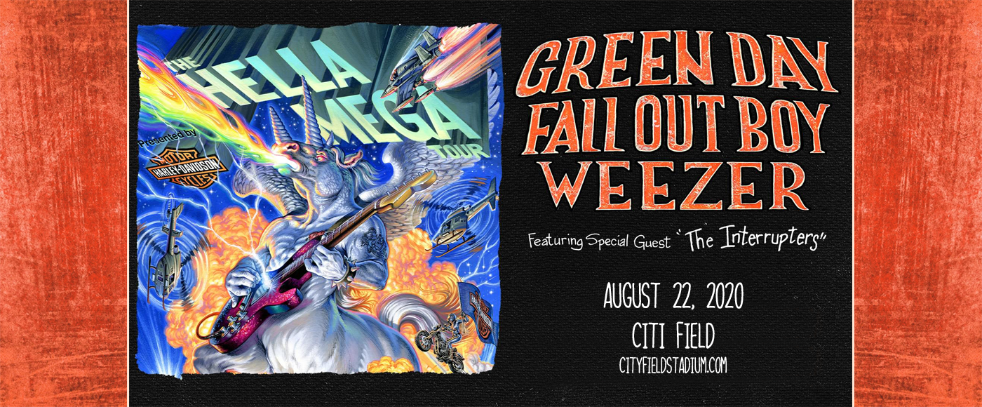 Hella Mega Tour: Green Day, Fall Out Boy, Weezer & The Interrupters [CANCELLED] at Citi Field
